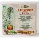 Pack 6 infusions bio bien-être Valdena